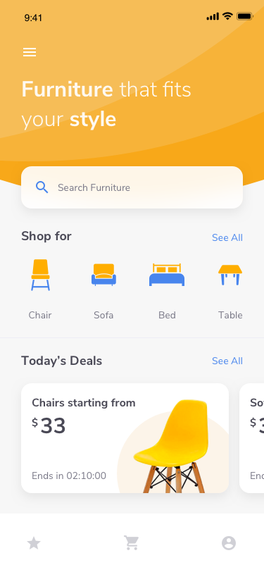 Furniture E Commerce iOS App