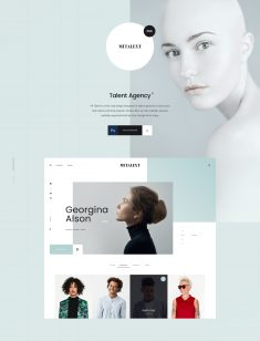 MITALENT | Free PSD Template