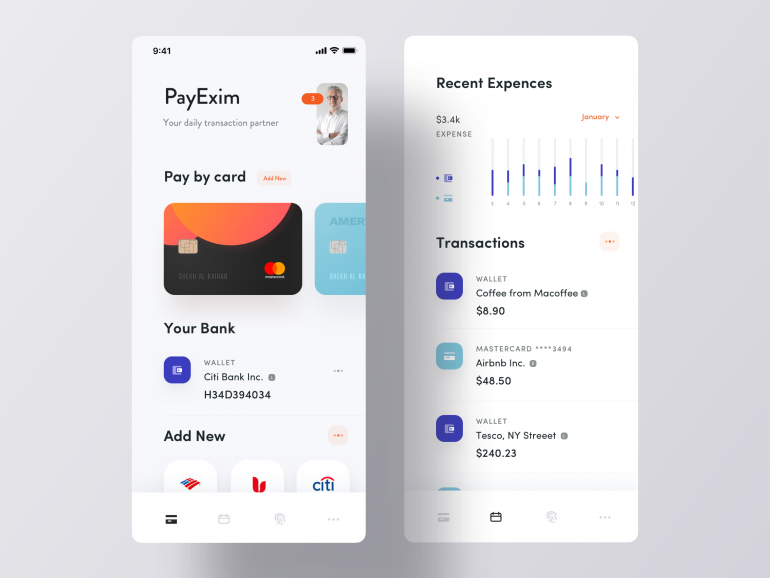 Personal Account Manager App Ui