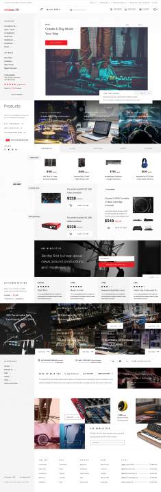 Music Store Landing Page