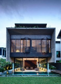 Four-Storey Family Home Designed as a Smart House in Singapore