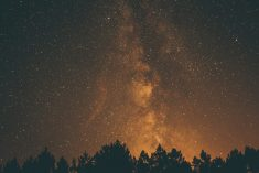 Golden Night Milky Way – Starry Sky