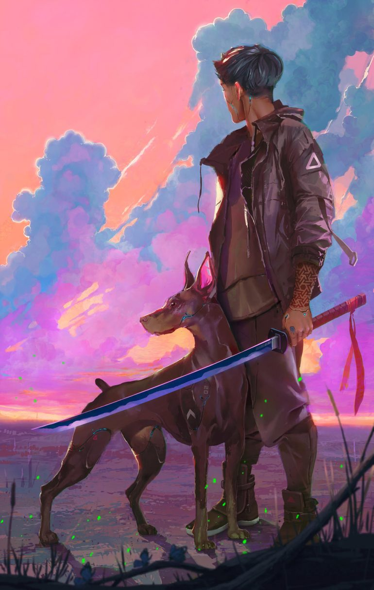 Guy And Dog by fongshader