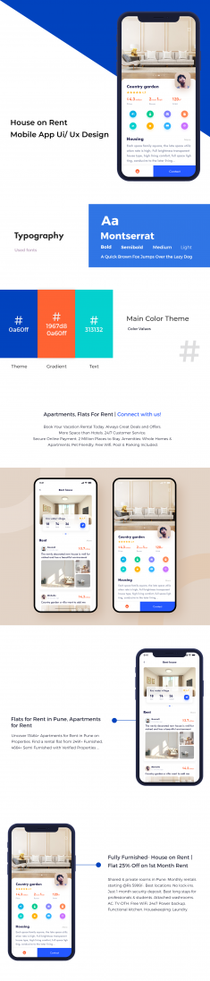 House on Rent Mobile App Ui/ Ux Design