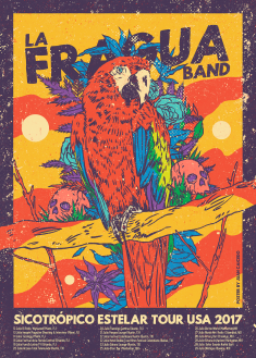 LA FRAGUA BAND – US Tour Poster