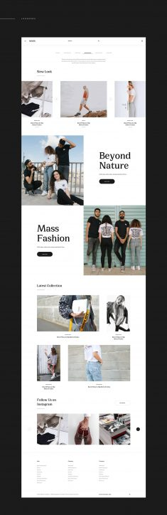 MI Fashion – Free Sketch App Template