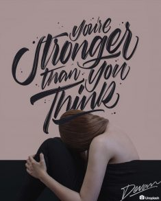 You're stronger than you think ????