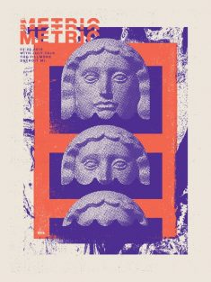 Metric Gig Poster by Jacob Rosenburg