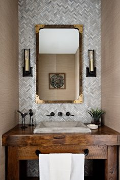 Reclaimed Barn Wood Vanity For Gabriele Pizzale Design!