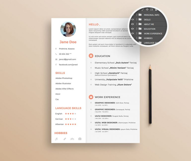 Resume Template (FREE PSD)