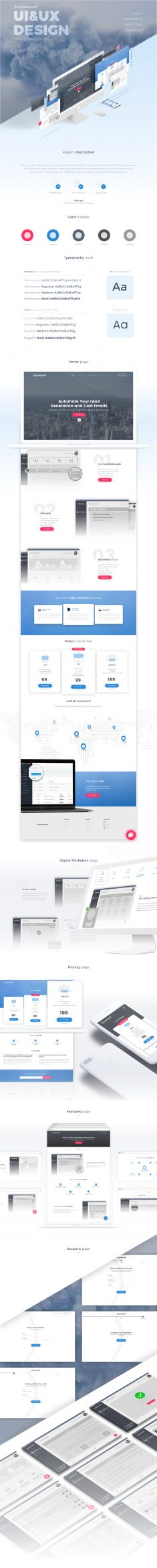 ScopeLeads – Website design (UI/UX)
