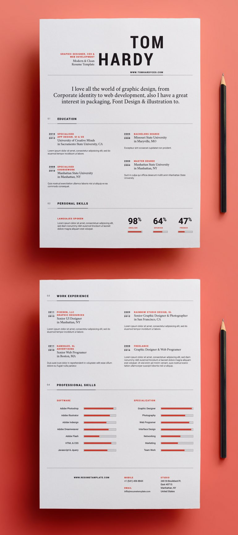 Simple Resume Template vol 12 | Resumes Templates