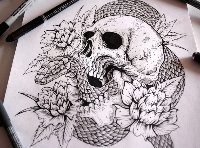 Demon Head – Small but cool Tattoo designs.