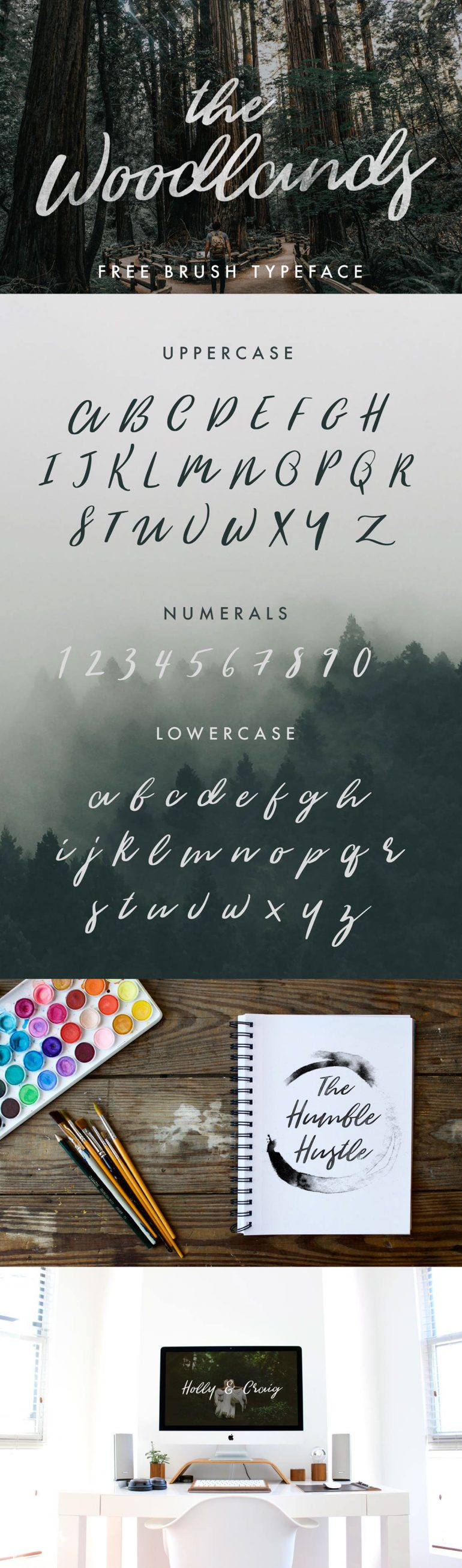 THE WOODLANDS – FREE FONT