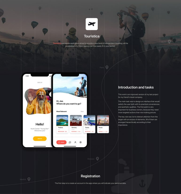 Touristica – Travel Agency Application