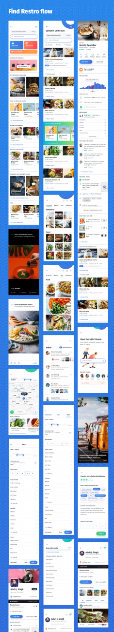 Tripto – Hotel and Food Mobile App UI-kit
