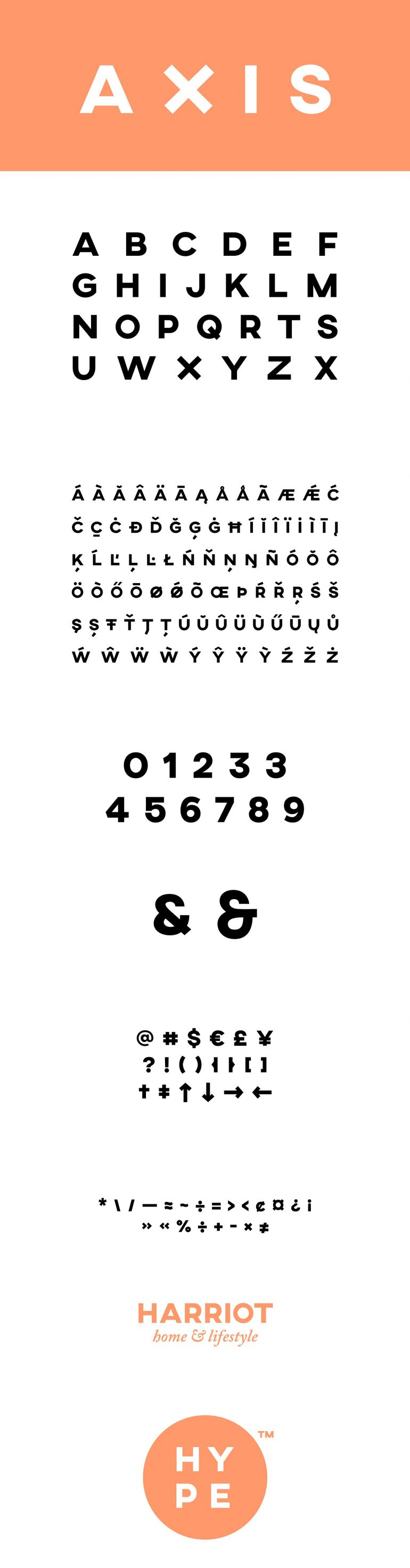 AXIS Typeface