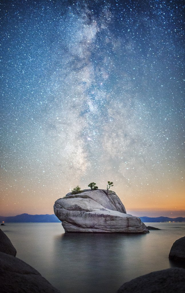 Bonsai Rock Milky Way