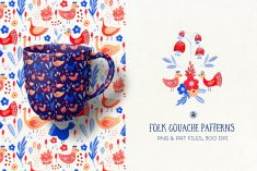 Folk Gouache Patterns