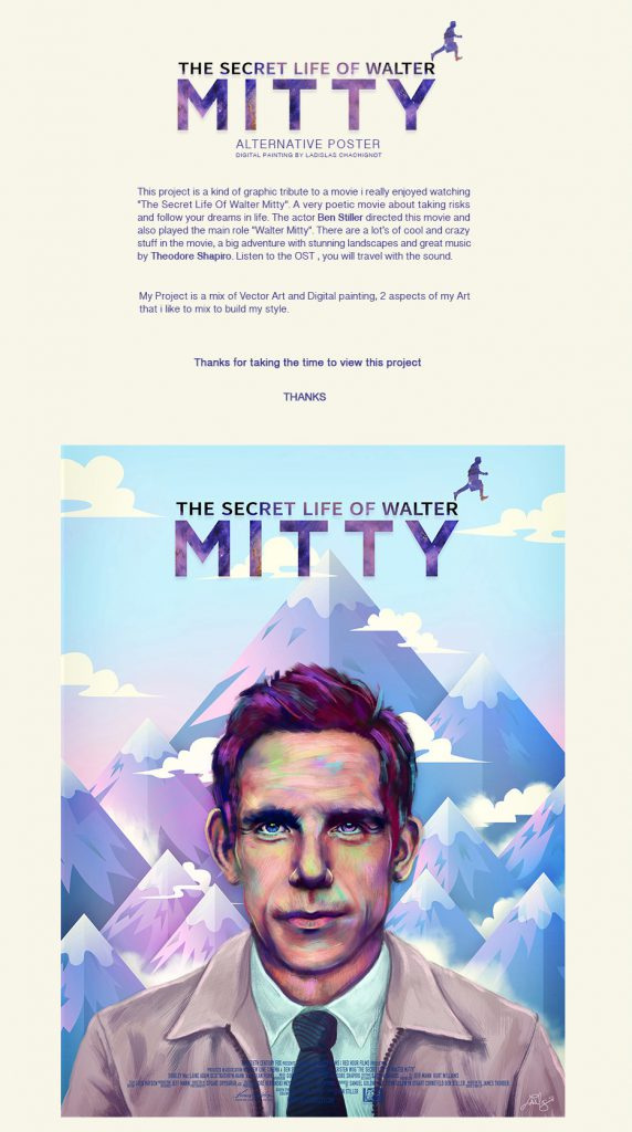 Alternative Movie Poster – The Secret Life Of Walter Mitty