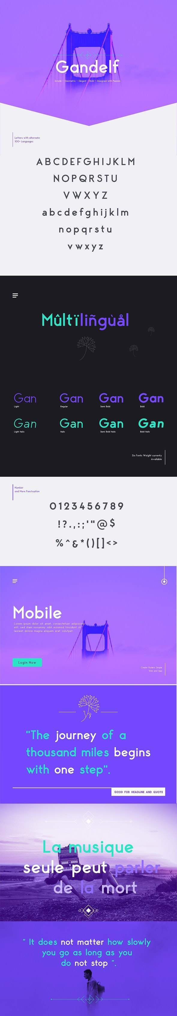 Gandelf – Elegant, Geometric, Clean, Fashionable Sans Serif Font