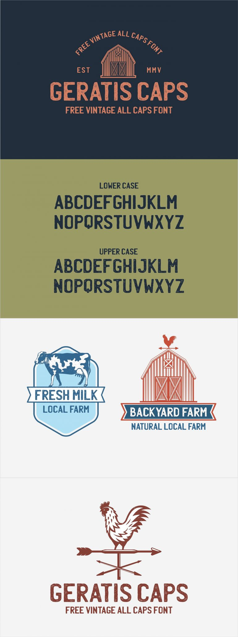 GERATIS – FREE VINTAGE ALL-CAPS FONT | 2 STYLES