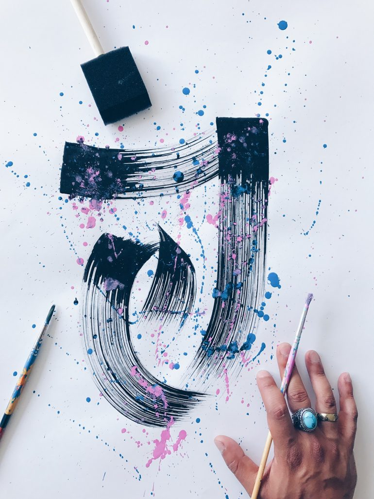Lettering 8 – Ink + Paint Alphabet