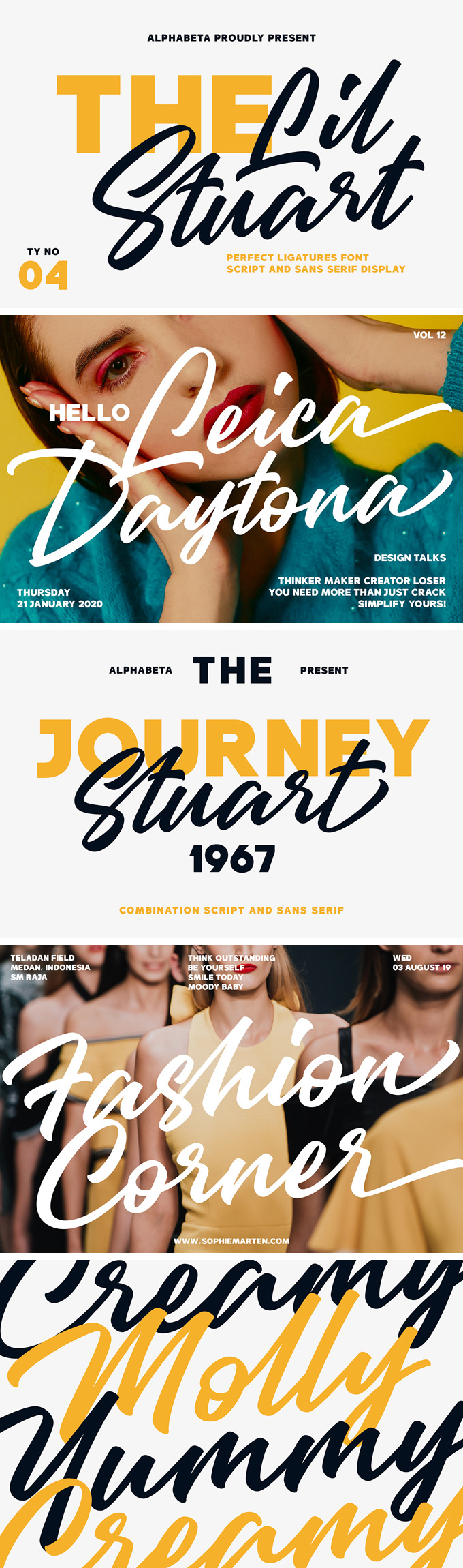 Lil Stuart Fonts Collection: download sans and serif