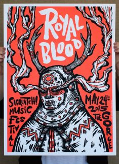 Royal Blood Concert Poster by Victor Melendez