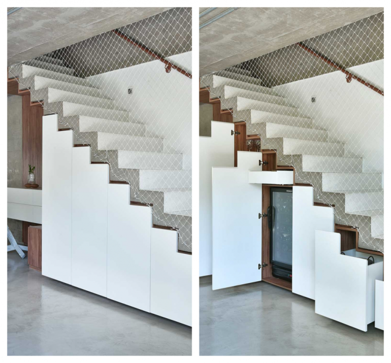 Secret doors reveal style and functionality in this house in Bragança