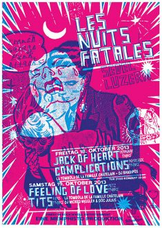 JACK OF HEART GIG POSTER BY MART INFANGER