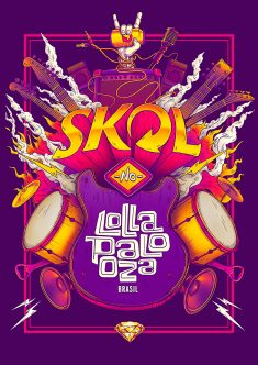 SKOL – Lollapaloza / Bigodon key visual