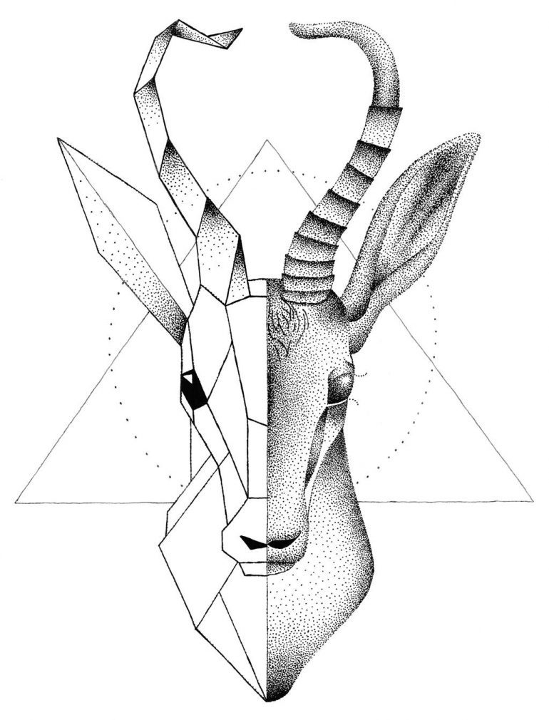 Springbok Tattoo Design