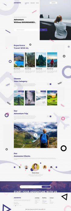 Advento – Travel One Page