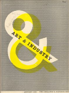 Art & Industry – magazine cover designed by Zero (Hans Schleger) – 1950