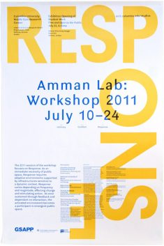 Studio X Amman Workshop 2011 Poster by Rumors Studio