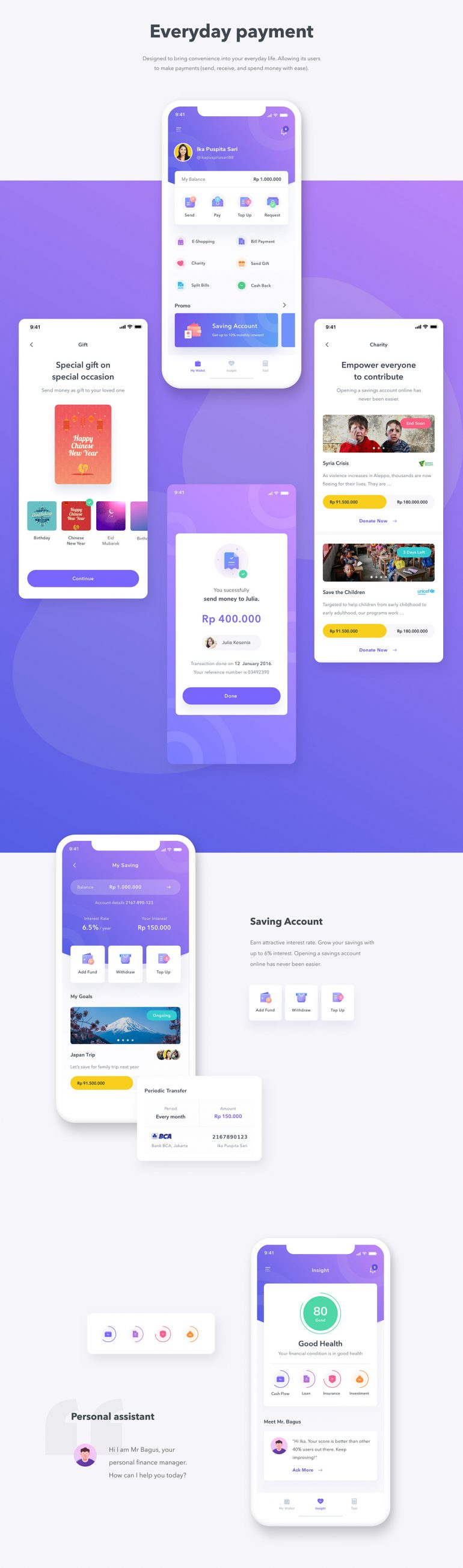 Finance Mobile App UI UX