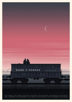 Simon Marchner Band Of Horses European Tour Poster