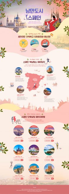 INTERPARK TOUR Spain Travel Promotion Design