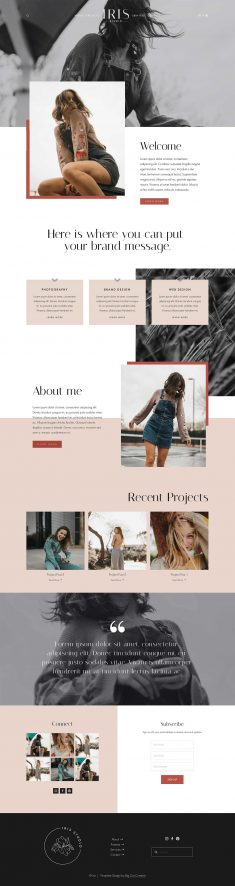 Iris Squarespace Template Kit