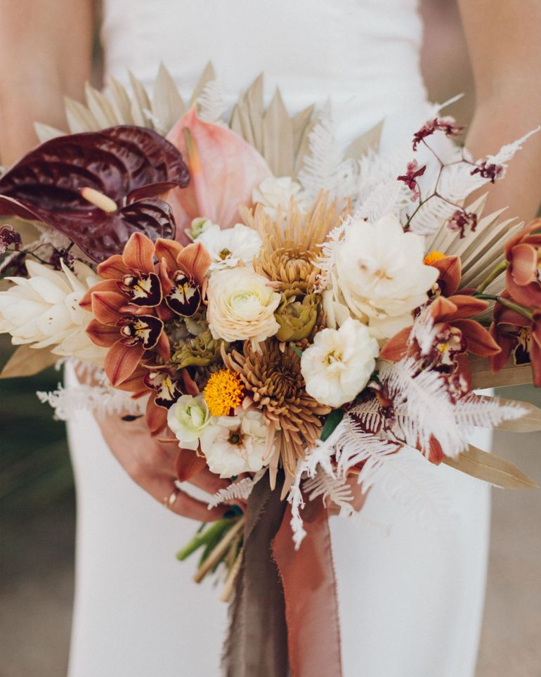 Muted Tones + Artistic Touches Stand Out in this Retro-Modern Palm Springs Wedding