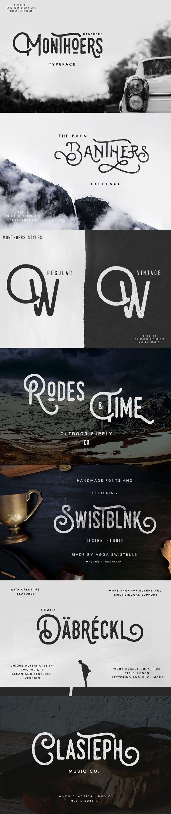 Monthoers Signature – Font Duo