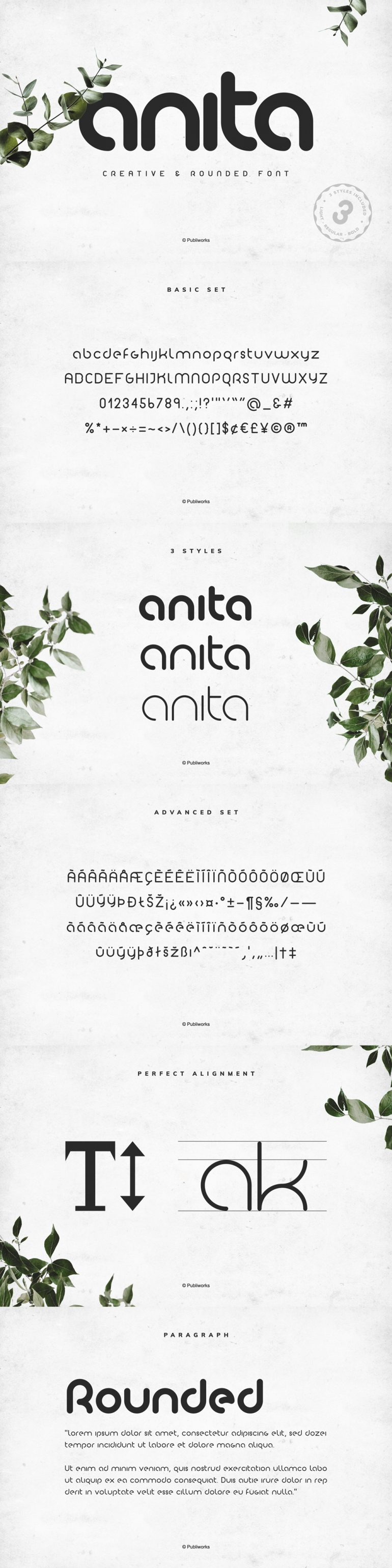 Anita PW – Geometric & Rounded Font