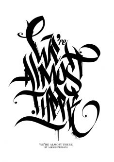 /// Black & white Calligraphy ///