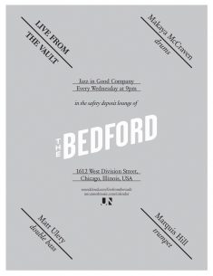 Bedford Jazz Poster