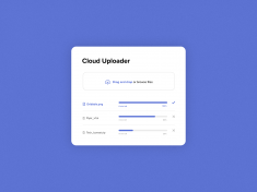 #DailyUI 31 | File Upload Window – Drag and Drop Design