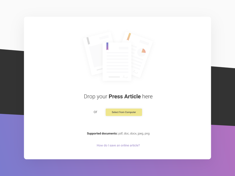 Document Drag and Drop or Upload