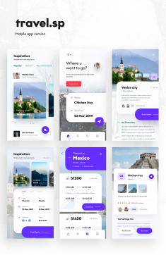 Travel App Screens