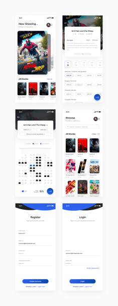 Movie Booking App Freebie | Day 222/365 – Project365