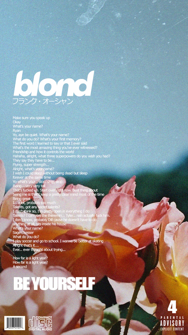 Blonde Alternative Song Covers (Phone Wallpapers)
